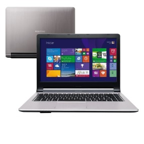 "Notebook Positivo Premium TV Intel Celeron N2806 4GB de RAM HD 500 GB 14"" Windows 8.1 S3210"
