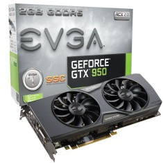 Placa de Video NVIDIA GeForce GTX 950 2 GB GDDR5 128 Bits EVGA 02G-P4-2957-KR