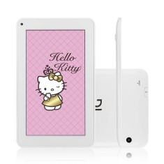 "Tablet DL Eletrônicos 4GB LCD 7"" Android 4.4 (Kit Kat) Hello Kitty Tab"