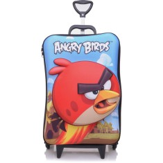 Mochila com Rodinhas Escolar Max Toy by Diplomata Angry Birds Red