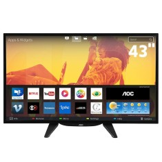 "Smart TV TV LED 43"" AOC Full HD Netflix LE43S5760 3 HDMI"