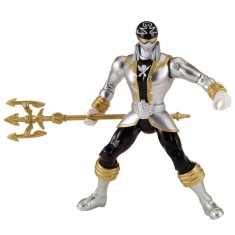 Boneco Power Rangers Megaforce Super Prata - Sunny