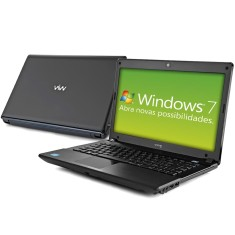 "Notebook CCE Intel Core i5 2410M 2ª Geração 4GB de RAM HD 500 GB 14"" Windows 7 Home Basic Onix 545B"