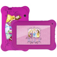 "Tablet Multilaser 8GB LCD 7"" Android 4.4 (Kit Kat) 2 MP Disney Princesas NB239"