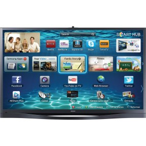"Smart TV TV Plasma 3D 64"" Samsung Série 8 Full HD PL64F8500 4 HDMI"