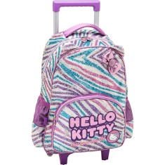 Mochila com Rodinhas Escolar PCF Global Hello Kitty Fashion 924T01
