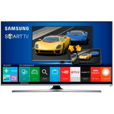 "Smart TV TV LED 3D 40"" Samsung Série 6 Full HD Netflix UN40J6400 4 HDMI"