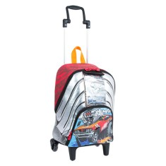 Mochila com Rodinhas Escolar Sestini Hot Wheels Hot Wheels 17Y M 64525