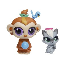 Boneca Littlest Pet Shop Mushroom Lee e Sneakers Stymie Hasbro