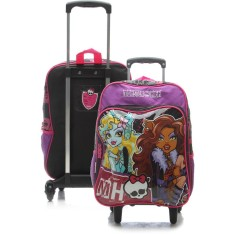 Mochila com Rodinhas Escolar Sestini Monster High 16M Plus G 63910
