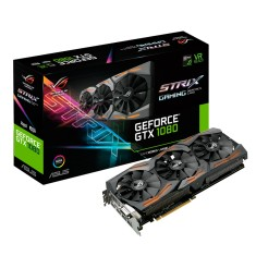 Placa de Video NVIDIA GeForce GTX 1080 8 GB GDDR5X 256 Bits Asus STRIX-GTX1080-A8G-GAMING