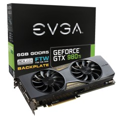 Placa de Video NVIDIA GeForce GTX 980 Ti 6 GB GDDR5 384 Bits EVGA 06G-P4-4996-KR