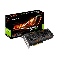 Placa de Video NVIDIA GeForce GTX 1070 8 GB GDDR5 256 Bits Gigabyte GV-N1070G1 GAMING-8GD