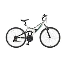 Bicicleta Mountain Bike Fischer 21 Marchas Aro 26 Suspensão Full Suspension Freio V-Brake Hill Razer