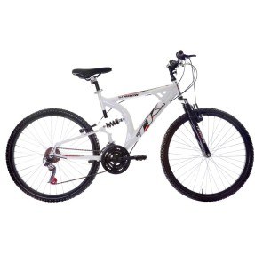 Bicicleta Mountain Bike Track & Bikes 21 Marchas Aro 26 Suspensão Full Suspension Freio V-Brake XK 400