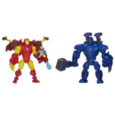 Boneco Marvel Super Hero Mashers Iron Man VS Iron Monger A8159/A9530 - Hasbro