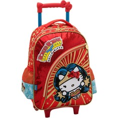 Mochila com Rodinhas Escolar PCF Global Hello Kitty DC Comics Winder 964A01