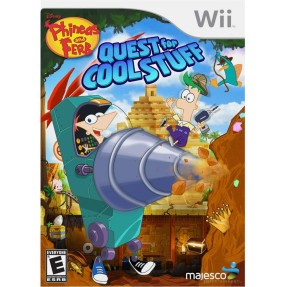 Jogo Phineas and Ferb: Quest For Cool Stuff Wii Majesco Entertainment
