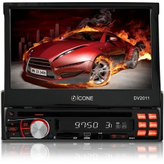 "DVD Player Automotivo Ícone Eletrônicos 7 "" DV2011 Touchscreen USB"
