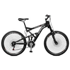 Bicicleta Master Bike 21 Marchas Aro 26 Suspensão Full Suspension Freio V-Brake Totem 26158