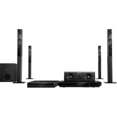Home Theater Philips com Blu-Ray 3D 1.000 W 5.1 Canais Karaokê 1 HDMI HTB5580/78