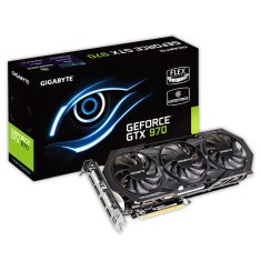 Placa de Video NVIDIA GeForce GTX 970 4 GB GDDR5 256 Bits Gigabyte GV-N970WF3OC-4GD