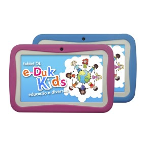 "Tablet DL Eletrônicos e-Duk Kids 4GB 7"" Android 2 MP 4.1 (Jelly Bean)"