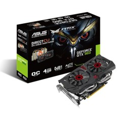 Placa de Video NVIDIA GeForce GTX 960 4 GB GDDR5 128 Bits Asus STRIX-GTX960-DC2OC-4GD5