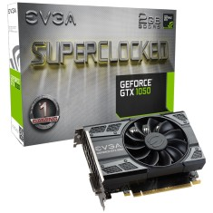 Placa de Video NVIDIA GeForce GTX 1050 2 GB GDDR5 128 Bits EVGA 02G-P4-6152-KR