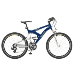 Bicicleta Mountain Bike Fischer 21 Marchas Aro 26 Suspensão Full Suspension Freio V-Brake Vector