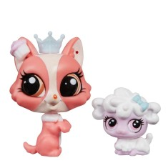 Boneca Littlest Pet Shop Puffball Petrovsky e Bonnue Barkington Hasbro