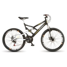 Bicicleta Mountain Bike Colli Bikes 21 Marchas Aro 26 Suspensão Full Suspension Freio a Disco Renault Pro-XT