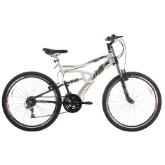 Bicicleta Mountain Bike Track & Bikes 21 Marchas Aro 26 Suspensão Full Suspension Freio V-Brake Boxxer New