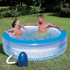 Piscina Inflável 768 l Redonda Bestway Bubble Play SPA