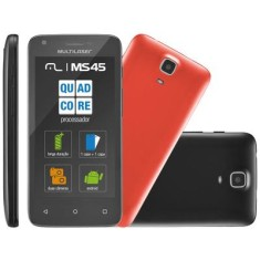 Smartphone Multilaser MS45 Colors 8GB P9009 5,0 MP 2 Chips Android 4.4 (Kit Kat) 3G Wi-Fi