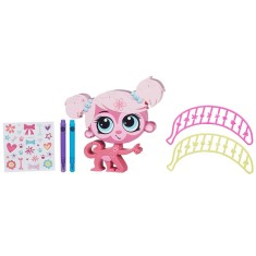 Boneca Littlest Pet Shop Minka Mark Decore seu Pet Hasbro