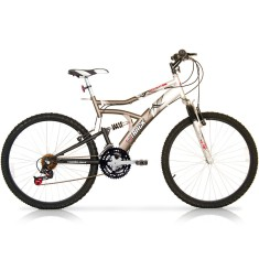Bicicleta Mountain Bike Track & Bikes 21 Marchas Aro 26 Suspensão Full Suspension Freio V-Brake Boxxer