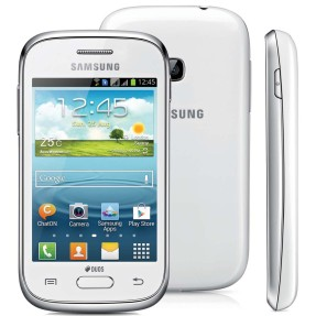 Smartphone Samsung Galaxy Young Plus TV TV Digital 4GB GT-S6293T 3,0 MP 2 Chips Android 4.1 (Jelly Bean) Wi-Fi 3G