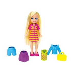 Boneca Polly Super Fashion Vestido Listrado Mattel